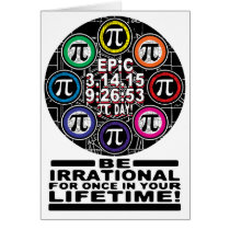 Ultimate Memorial for Epic Pi Day Symbols Card