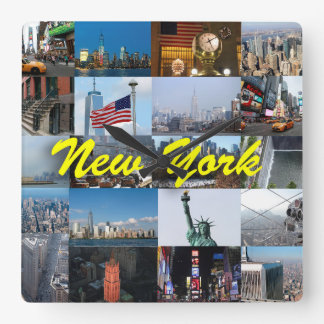 Ultimate! New York City Pro Photos Square Wall Clock