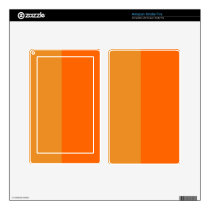 Ultimate Orange Demi-Stripe Kindle Fire Decal