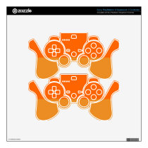 Ultimate Orange Demi-Stripe PS3 Controller Skin