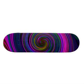 Ultimate Pastel Swirls Skateboard deck.