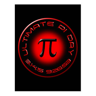 Ultimate Pi Day 2015 3.14.15 9:26:53 (red) Postcard