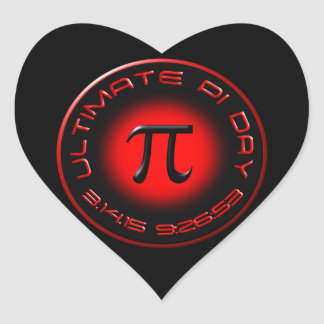 Ultimate Pi Day 2015 3.14.15 9:26:53 (red) Heart Sticker