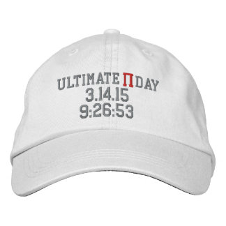 Ultimate Pi Day 2015 Embroidered Baseball Cap