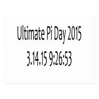 Ultimate Pi Day 2015 Image Postcard