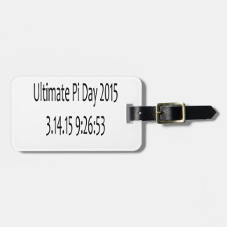 Ultimate Pi Day 2015 Image Tag For Luggage