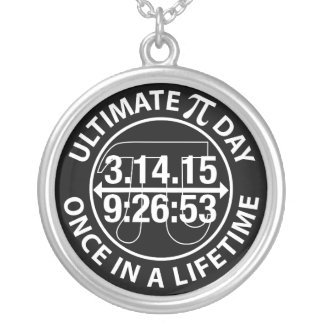 Ultimate Pi Day 2015 Round Pendant Necklace
