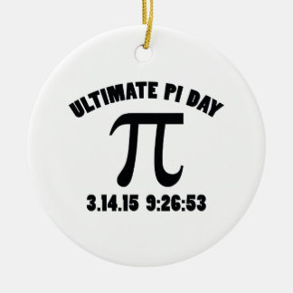 Ultimate Pi Day Ceramic Ornament