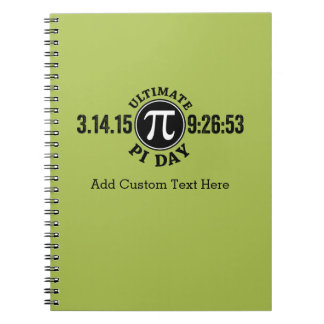 Ultimate Pi Day March 14 2015 Spiral Notebook