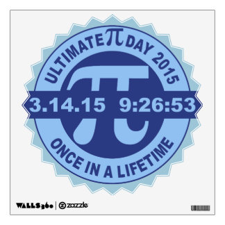 Ultimate Pi day wall decal art2015 3.14.15 9:26:53