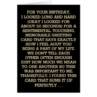 Ultimate Sentimental Birthday Message (Whiskey) Card