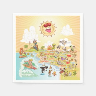 Ultimate Sunny California Paper Napkin