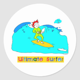 Ultimate Surfer Classic Round Sticker
