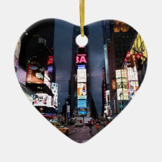 Ultimate Times Square New York City USA Ceramic Ornament