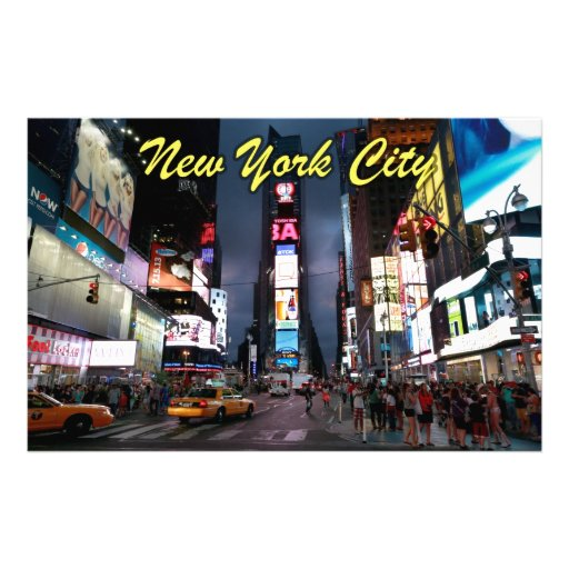 Ultimate Times Square New York City USA Customised Stationery