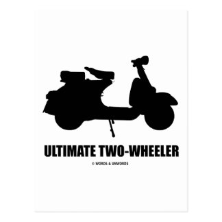 Ultimate Two-Wheeler (Vintage Motor Scooter) Post Cards