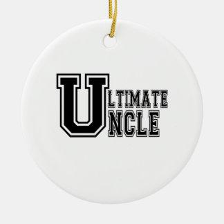 Ultimate Uncle in Black Ceramic Ornament