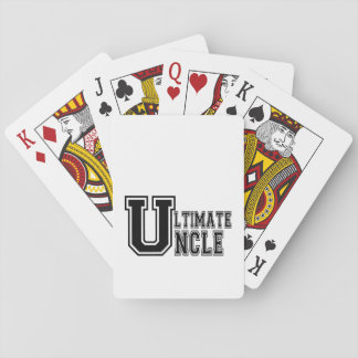 Ultimate Uncle in Black Playing Cards