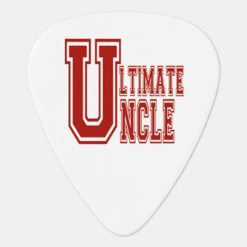 Ultimate Uncle In Off Red Guitar Pick by SoFancy at Zazzle