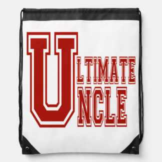 Ultimate Uncle in Off Red Drawstring Backpacks