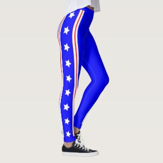 Ultimate USA Stars and Stripes Patriot Blue Leggings