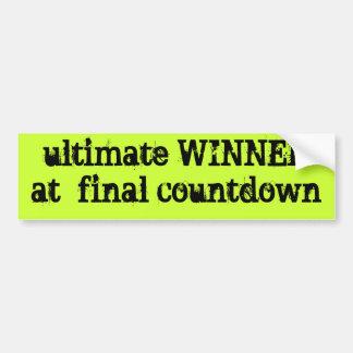 ultimate WINNERat  final countdown Bumper Sticker