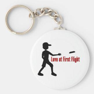 Último amor del disco volador en el primer vuelo llavero redondo tipo pin