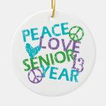 Último año 2013 del amor de la paz ornamentos para reyes magos