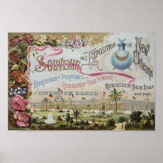 Último anuncio del perfume 1800's posters