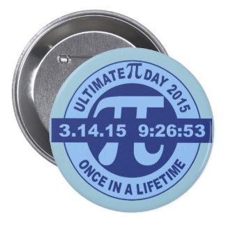 Último botón 2015 del perno del día del pi 3.14.15