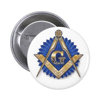 Último botón del Freemason Pin Redondo De 2 Pulgadas