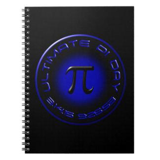 Último día 2015 del pi 3.14.15 9:26: 53 (azul) libreta espiral