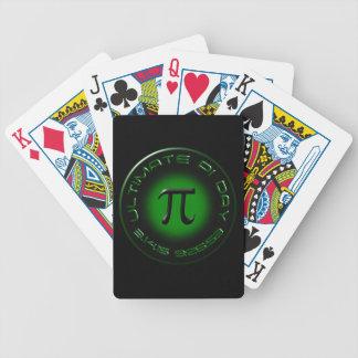 Último día 2015 del pi 3.14.15 9:26: 53 (verde) barajas de cartas