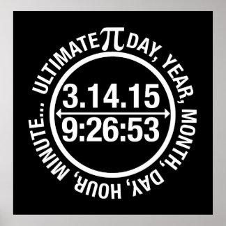 Último día 2015 del pi póster