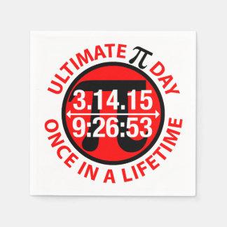 Último día 2015 del pi servilletas de papel