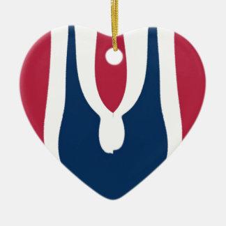 Último diseño rojo floreciente del regalo de adorno de cerámica en forma de corazón