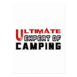 Último experto de acampar postal