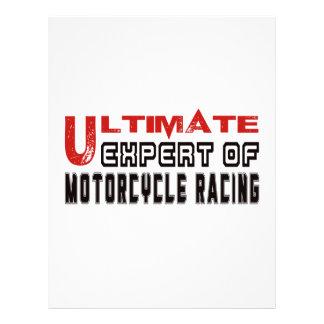 Último experto de competir con de la motocicleta membrete