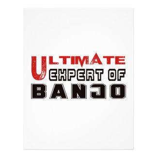 Último experto del banjo plantilla de membrete