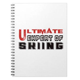 Último experto del esquí cuaderno