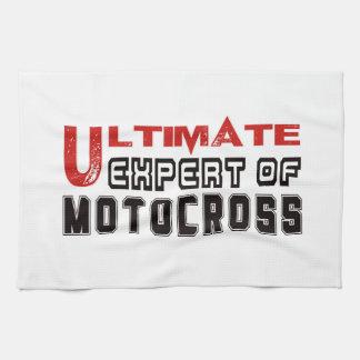 Último experto del motocrós toalla de mano