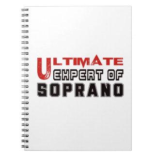 Último experto del Soprano. Libros De Apuntes Con Espiral