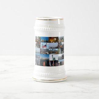 ¡Último! Favorables fotos de New York City Jarra De Cerveza