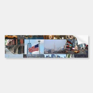¡Último! Favorables fotos de New York City Pegatina Para Auto