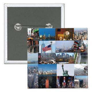 ¡Último! Favorables fotos de New York City Pin Cuadrada 5 Cm