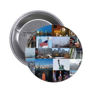 ¡Último! Favorables fotos de New York City Pin Redondo 5 Cm