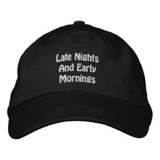 Último gorra de las noches y de las madrugadas gorras bordadas