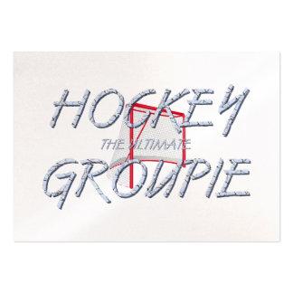 Último groupie SUPERIOR del hockey Tarjetas De Visita Grandes