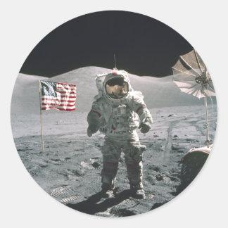 Último mA de Apolo 17 en el pegatina de la luna