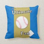 Último oro del océano del aficionado al béisbol almohadas